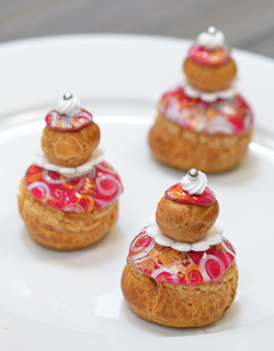 Recette - Religieuse « girly » mangue-passion