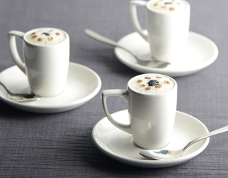 Recipe - Puy lentil soup with a cappuccino truffle foam
