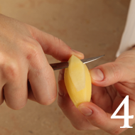 Turning potatoes