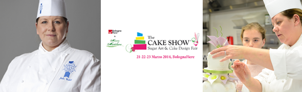 Chef Julie Walsh at The Cake Show in Bologna