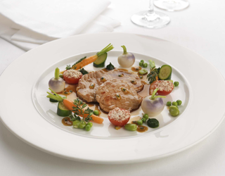 Recipe - Pan-fried veal piccata with baby vegetables and citrus sauce