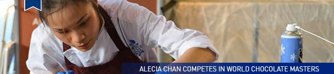 Alecia Chan competes in World Chocolate Masters