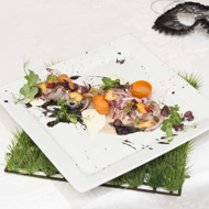 Meagre ceviche with grilled palmitos®