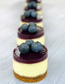Recipe - Blueberry mini Cheesecakes