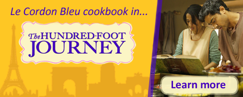 Le Cordon Bleu cookbook in The Hundred-Foot Journey