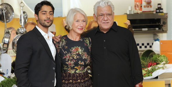 Helen Mirren, Om Puri and Manish Dayal at Le Cordon Bleu London