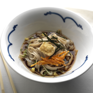 Recipe : Udon noodle broth with tempura tofu and carrots