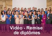 Vidéo de la remise de diplômes
