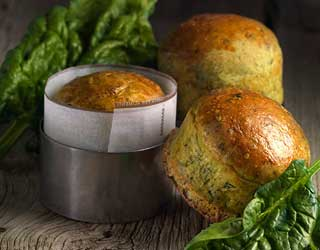 Recipe - Small bread with spinach