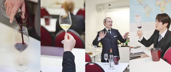 wine and management class about flavours