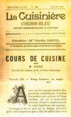 Magazine Cuisiniere Cordon Bleu