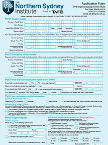 TAFE NSI English Application Form