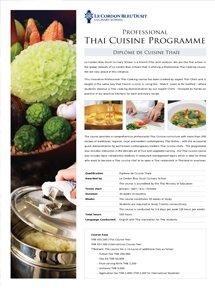 Professional Thai Cuisine Programme