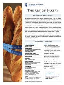 The Art of Bakery Programme
