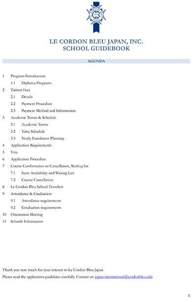 LCB Japan Guidebook - English Programs