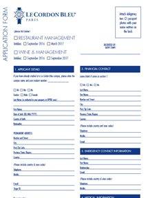 Formulaire Restaurant Management