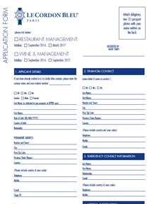 Application Form Wine and Management