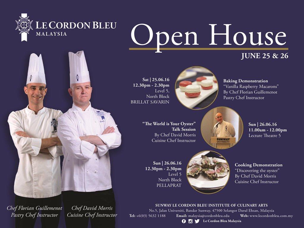 Le Cordon Bleu Malaysia Open House (25&26 June 2016)