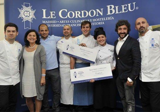 Premio Promesas de la alta cocina galardón trofeo
