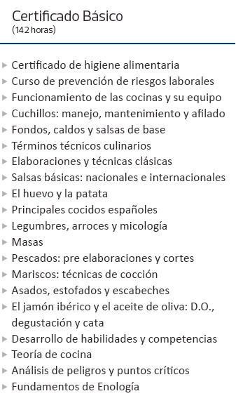 Diploma de cocina espa ola - Temario fp cocina y gastronomia ...