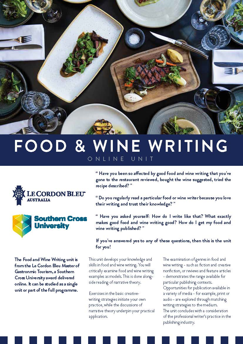 Le Cordon Bleu Master of Gastronomic Tourism - Food and Wine Writing