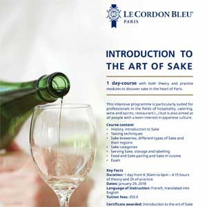 Initiation to the art of Sake