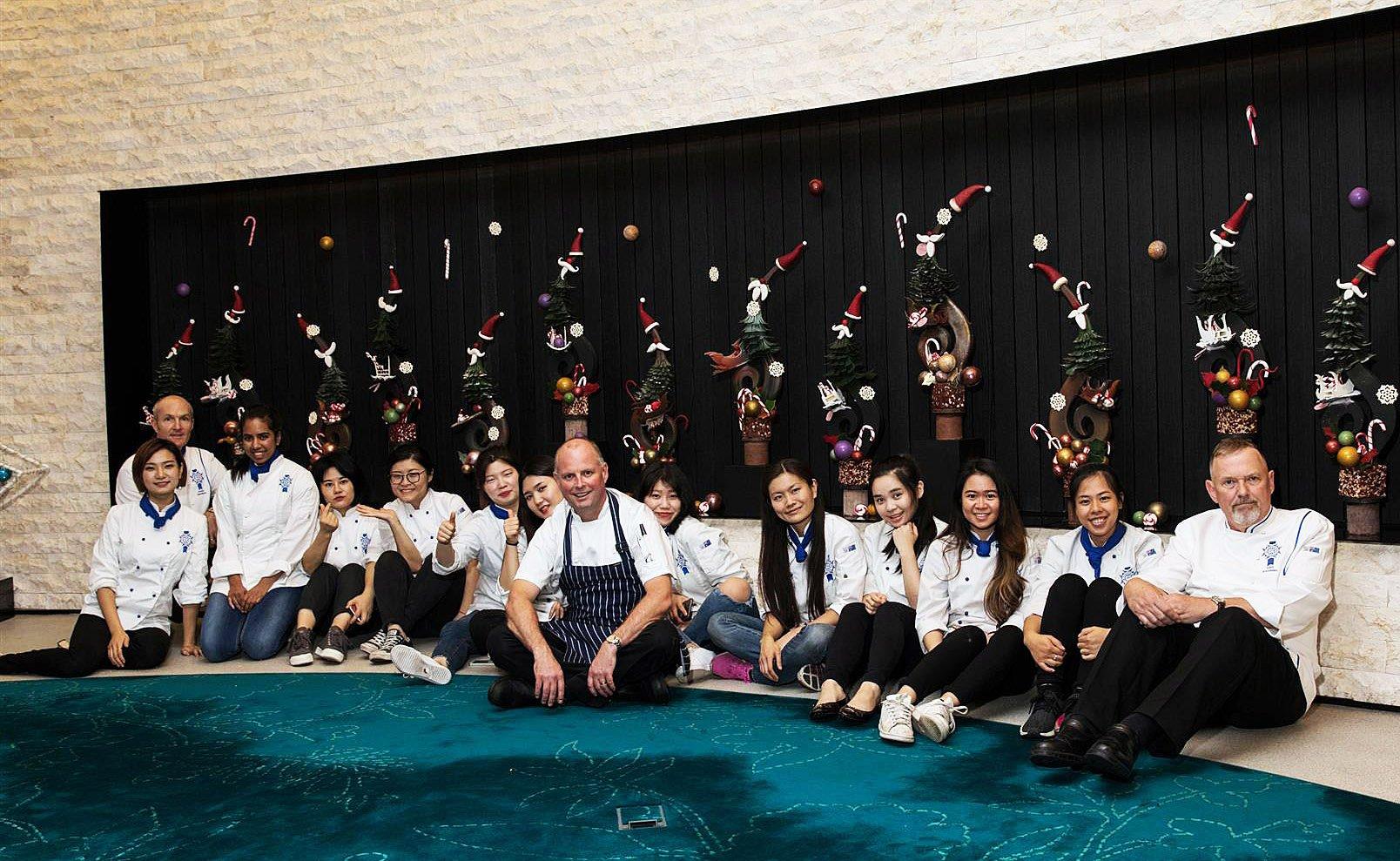 Sydney students impress with giant chocolate showpiece display