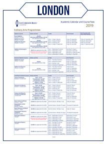 Academic Calendar & Course Fees 2021