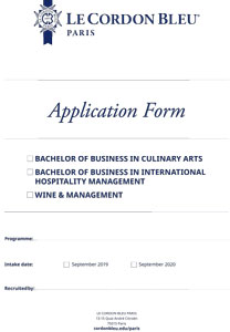 Application Form - Bachelor and Wine