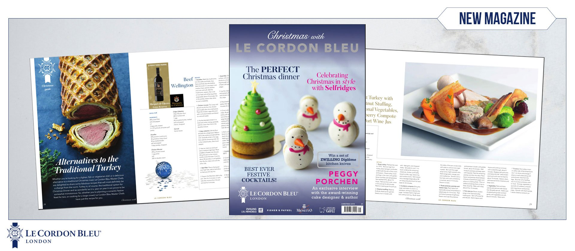 christmas with le cordon bleu magazine