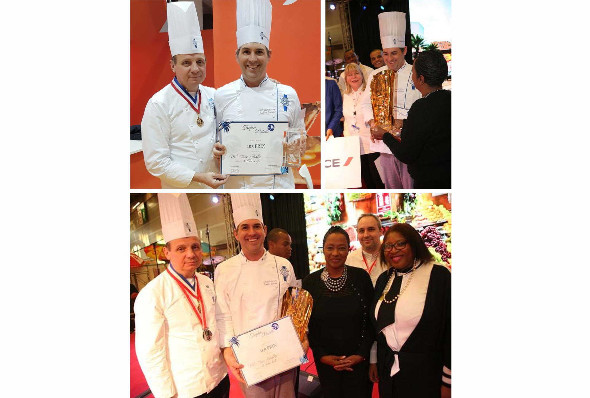 Intermediate Cuisine Student Todd Spaits wins Trophée Babette at the French Overseas Gastronomy Fair