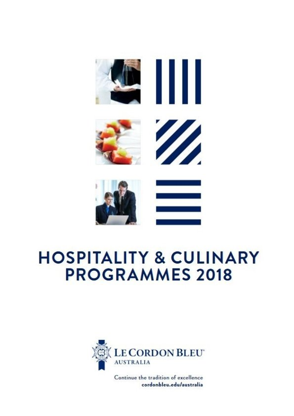 2018 Hospitality and Culinary Programmes