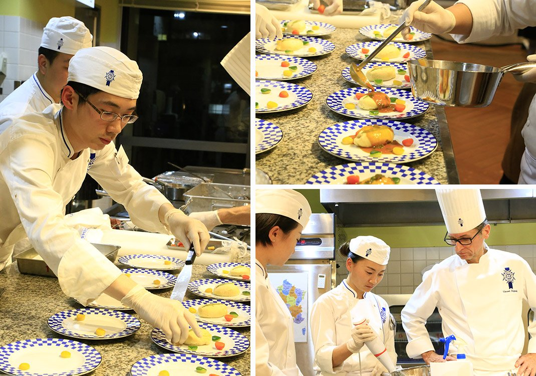 """Dîner Gourmand"" event held for the first time at Kobe School"