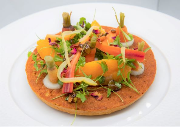 spiced chickpea crumpet
