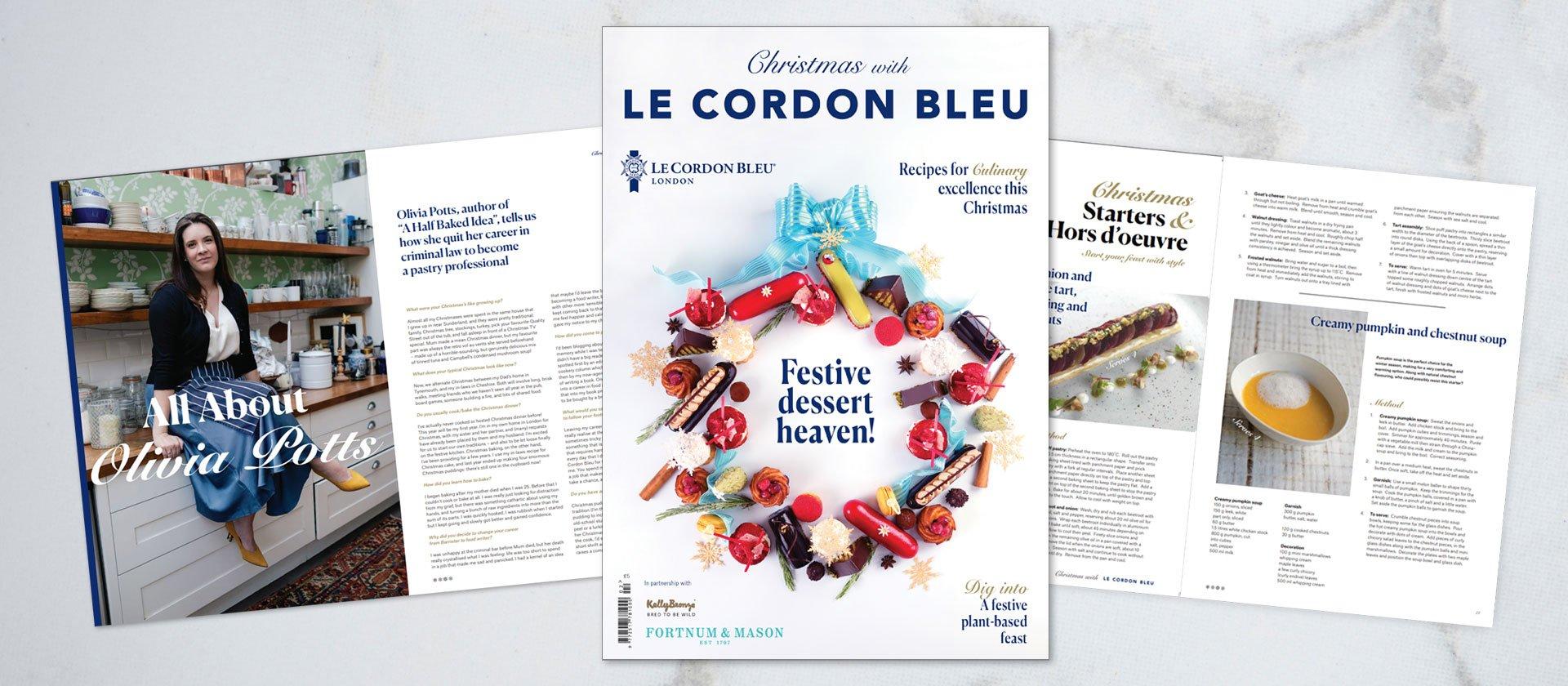 christmas with le cordon bleu magazine
