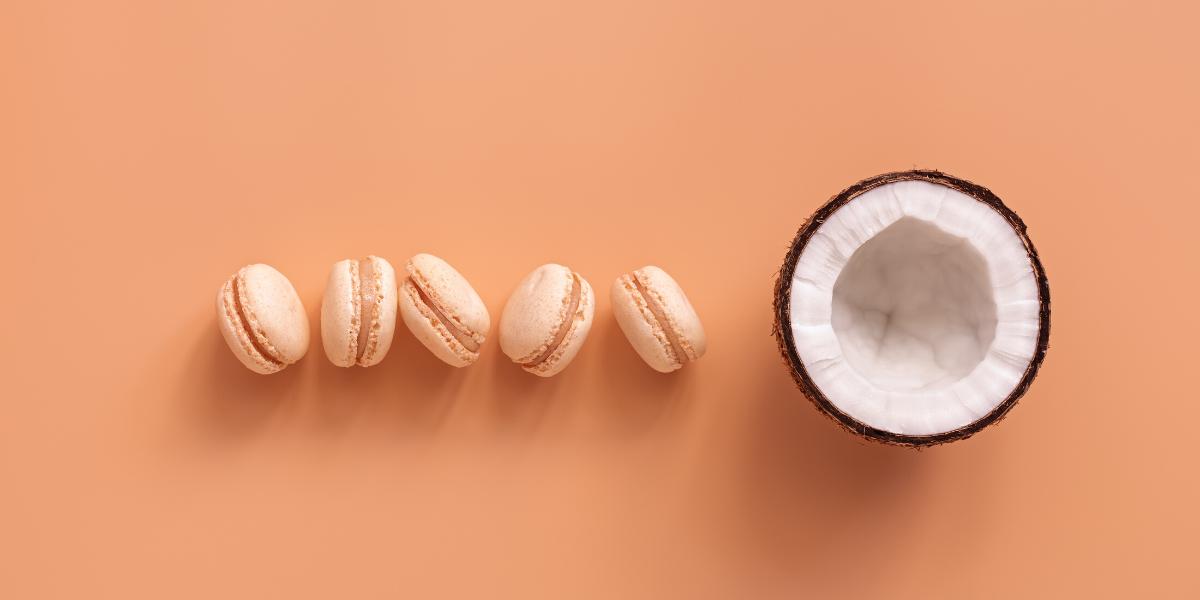Coconut Macaron Hero