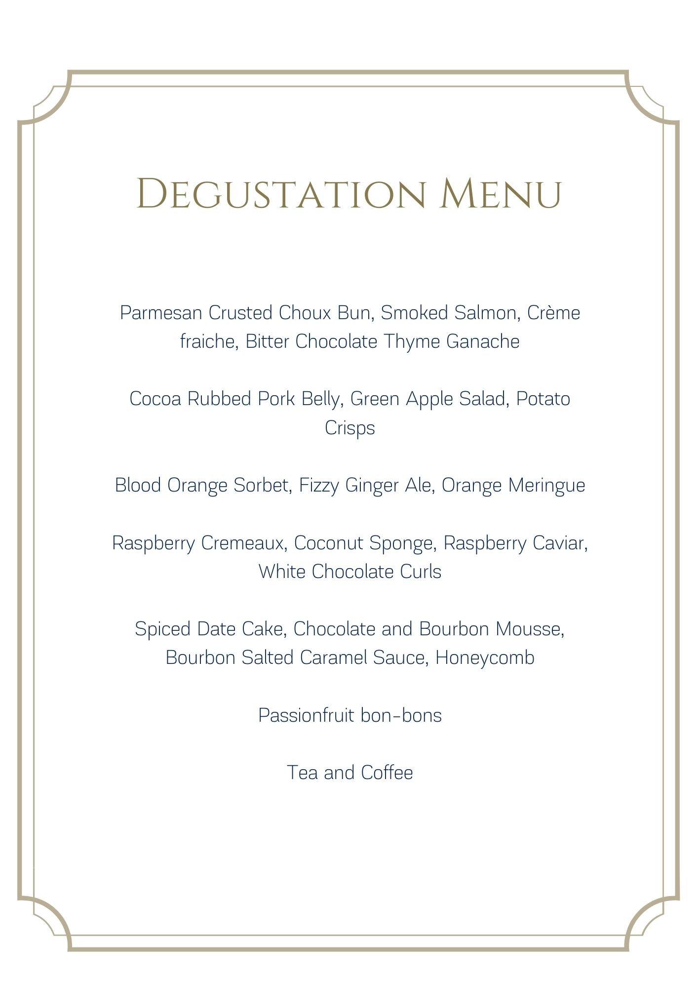 le cordon bleu degustation menu