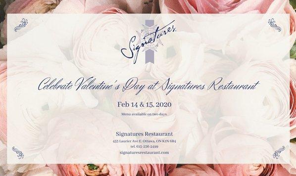 Celebrate Valentine's Day at Signatures Restaurant