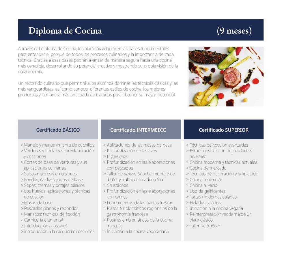 Información esencial del programa_Diploma de Cocina