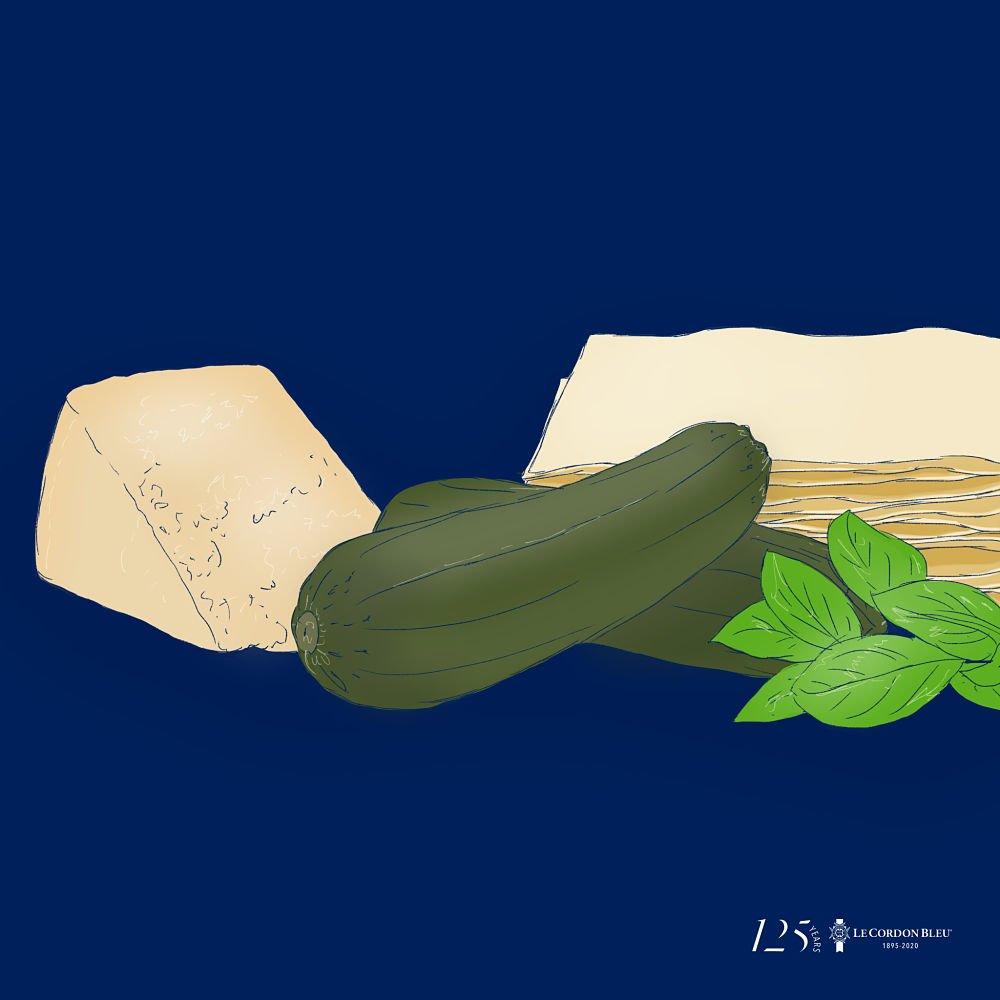 Lasaña de verduras al pesto