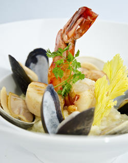 Recipe - Seafood risotto with a hint of curry