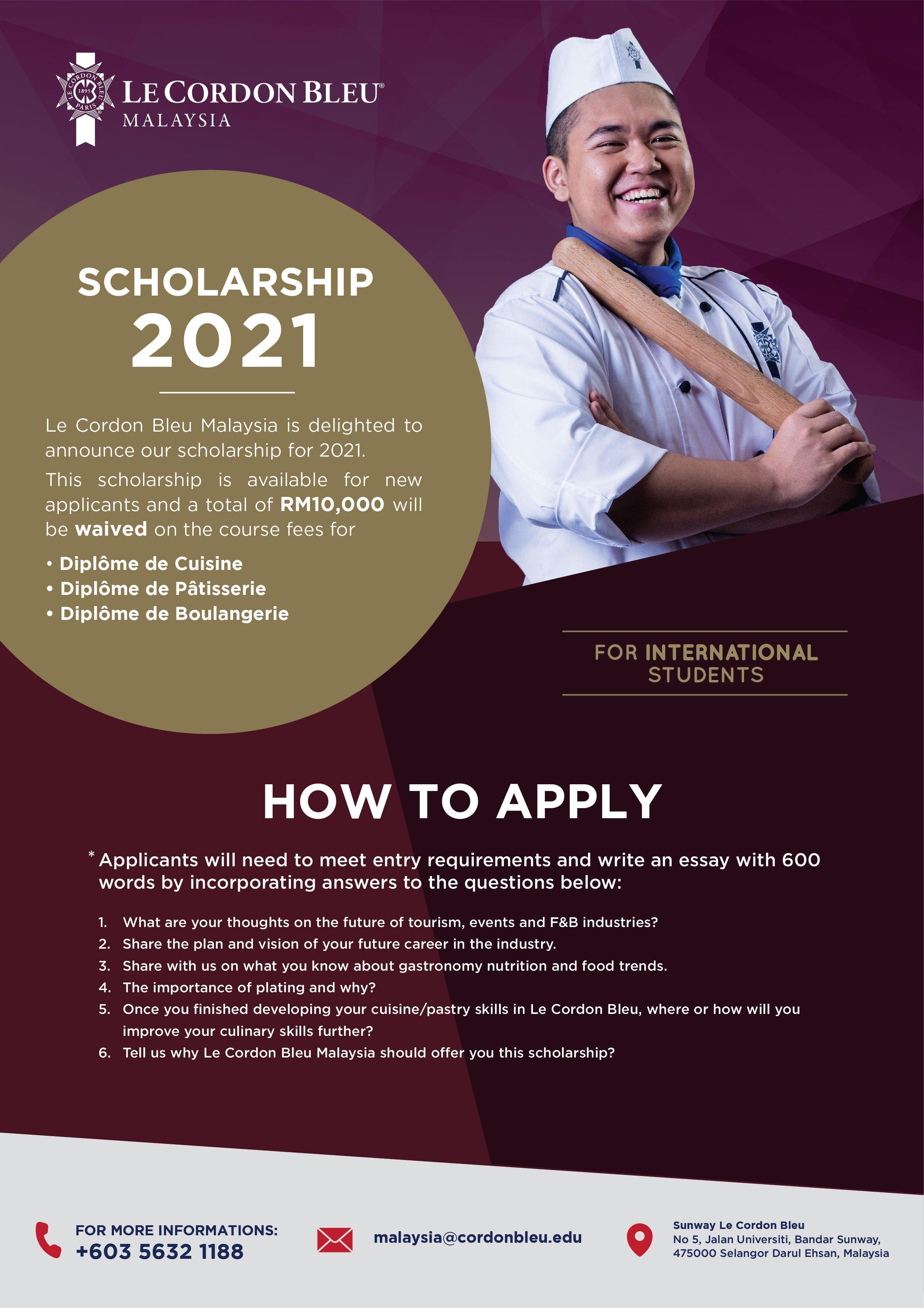 Scholarship 2021 (International)