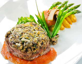 Recipe - Beef tenderloin with a mushroom and parmesan-crust