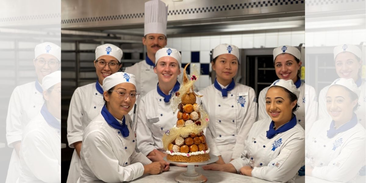 Croquembouche made by Certificate III Students from the Intermediate Patisserie Group - Le Cordon Bleu Brisbane