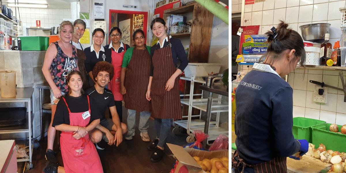 Le Cordon Bleu Sydney Volunteers at Lentil As Anything Newtown