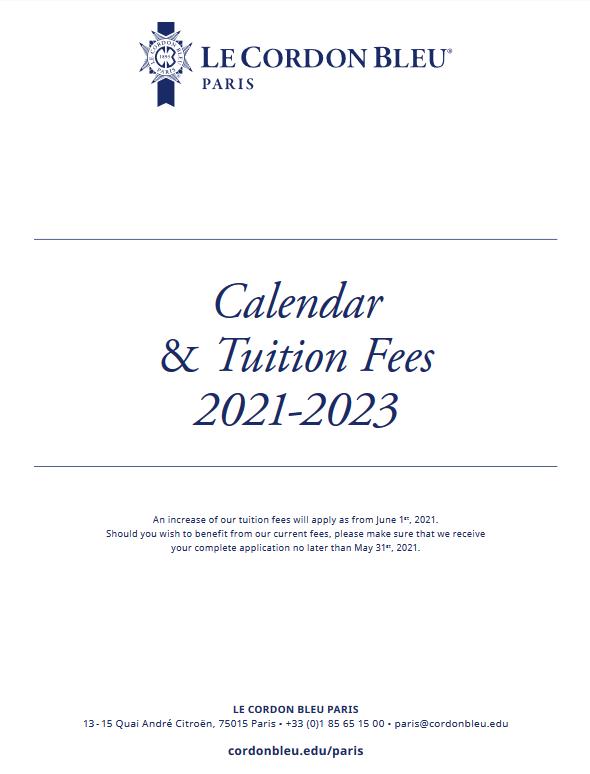 Calendar - Tuition Fees