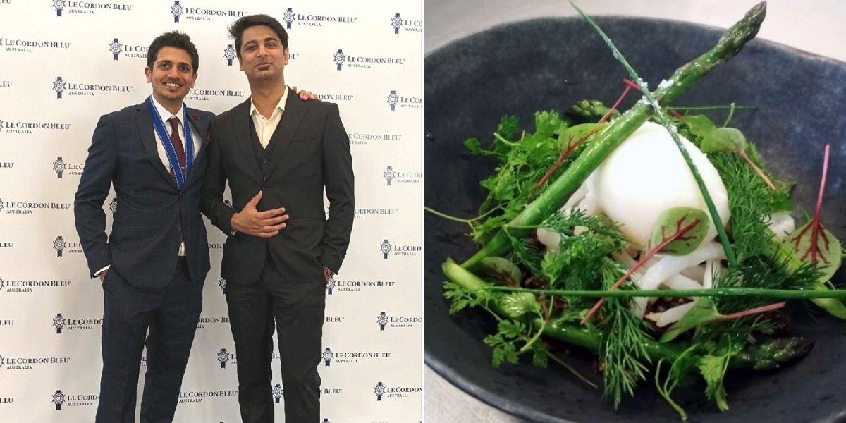 Left: Aditya Pai / Right: One of Pai's Culinary Creations