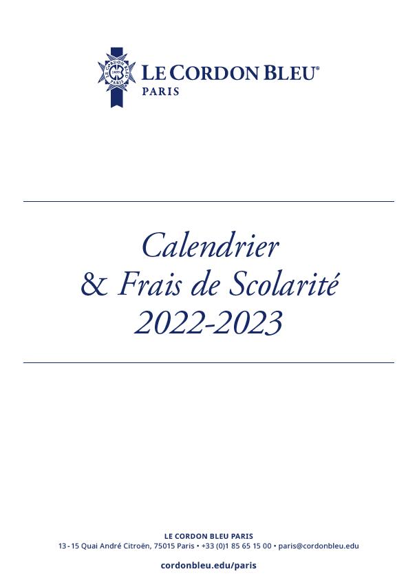 Calendrier - Frais de Scolarité