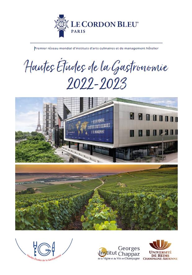 Brochure - Hautes Études de la Gastronomie