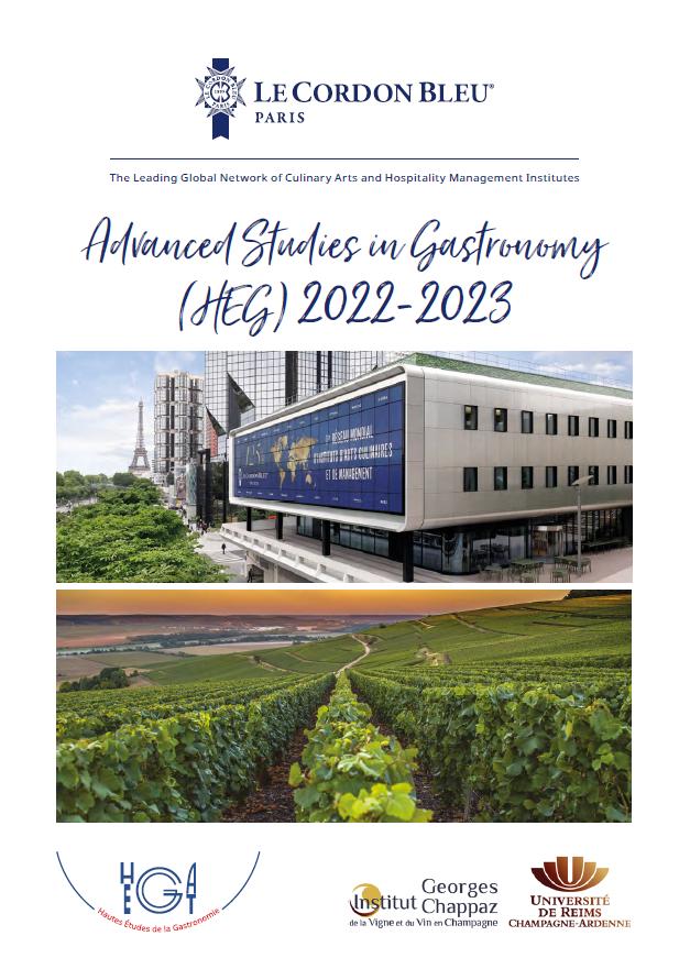 Brochure - Advanced Studies in Gastronomy